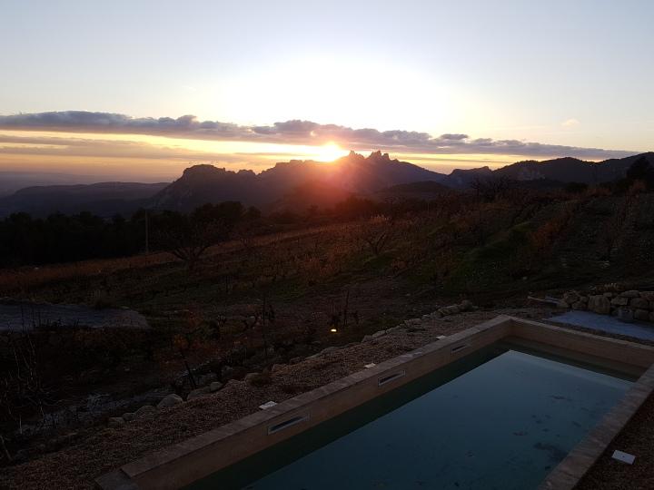 Coucher de soleil du Domaine Demoiselle Suzette