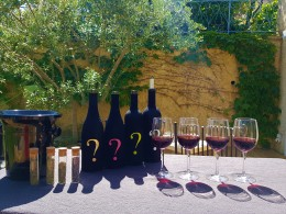 Dégustation de vin en terrasse