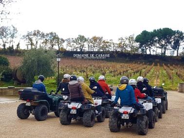 Quad et vin au domaine de Cabasse